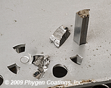 Punch breakage and failure eliminated with FortiPhy™ stamping tool coating.